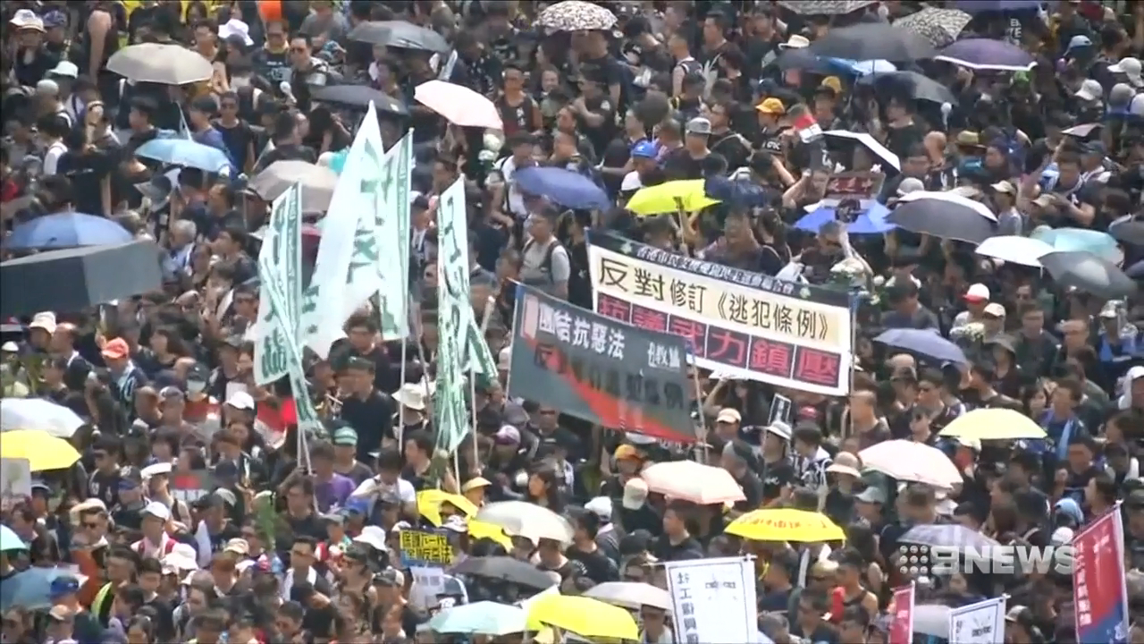 Hong Kong's leader refusing to resign after mass protest