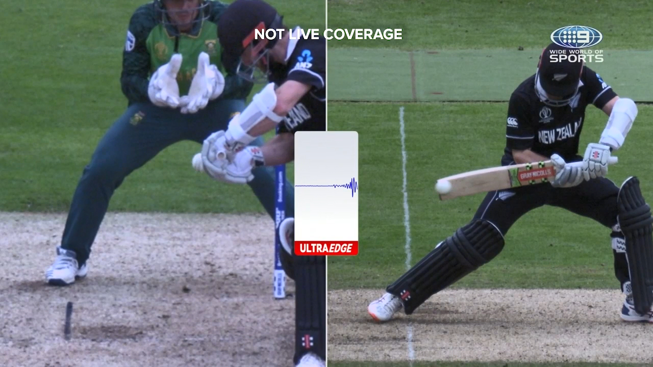 New Zealand captain Kane Williamson was lucky to not lose his wicket as South Africa didn't review an edge behind