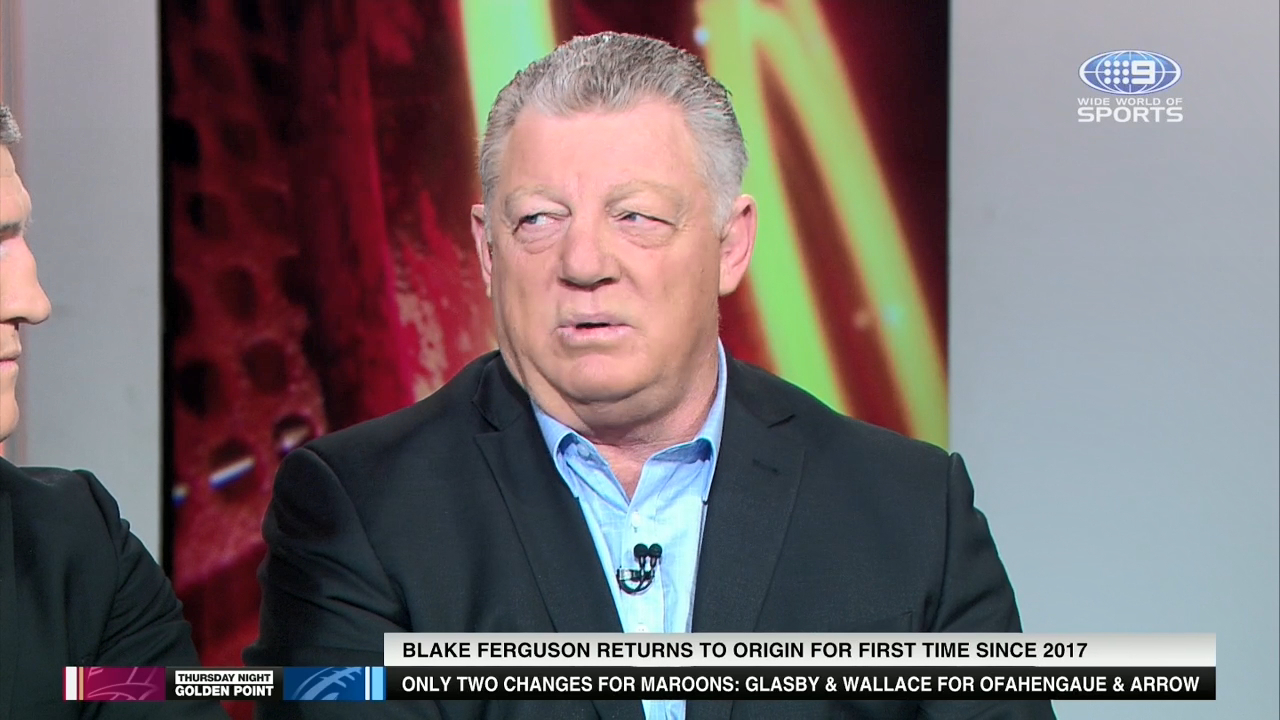 NRL great Phil Gould believes the inclusion of Parramatta Eels star Black Ferguson will help the Blues in Game Two