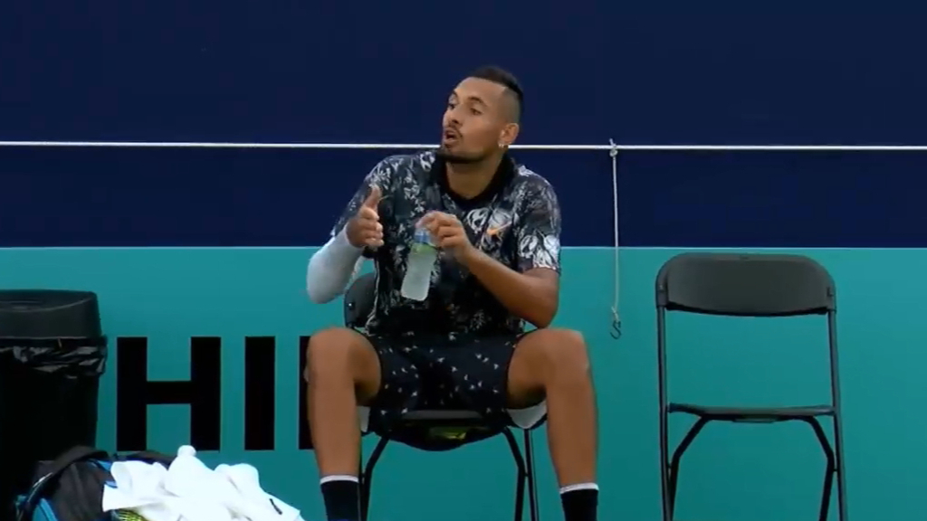 Kyrgios fined for Queen's outburst
