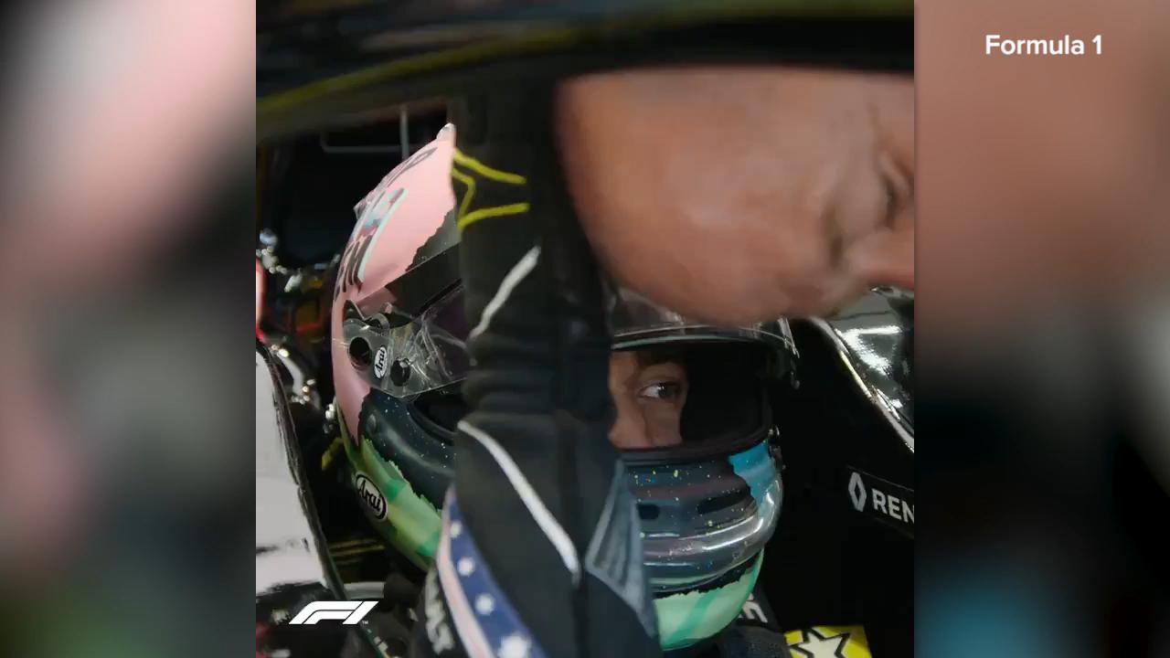 Ricciardo's peculiar pre-race routine