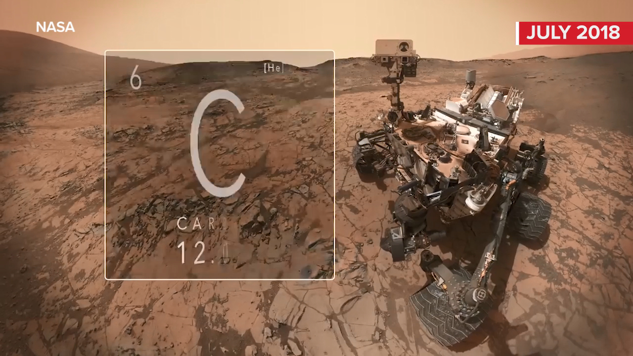 Nasa's Curiosity rover detects methane in latest hint at life on Mars