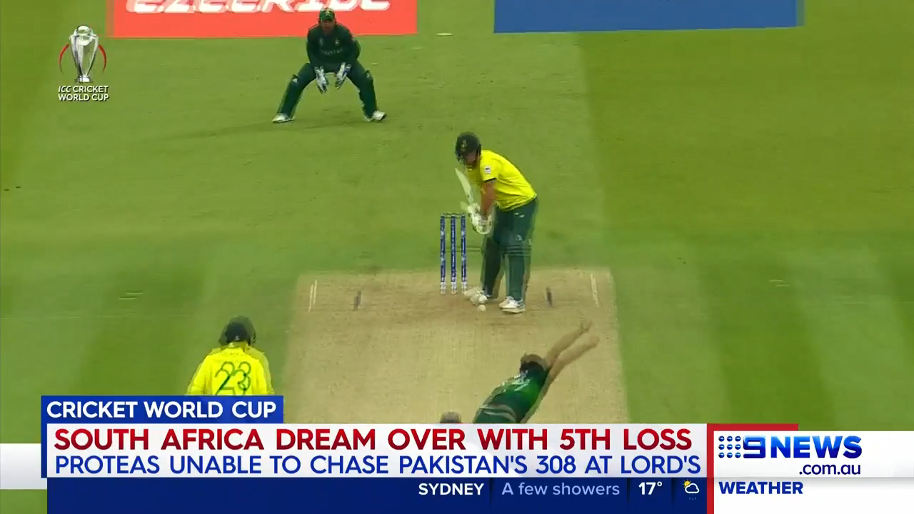 South Africa's Cricket World Cup misery continued against Pakistan.