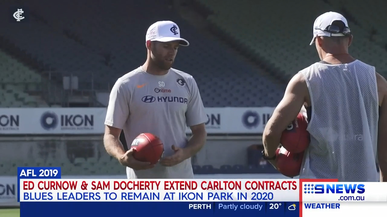 Sam Docherty and Ed Curnow have both sealed contract extensions with Carlton