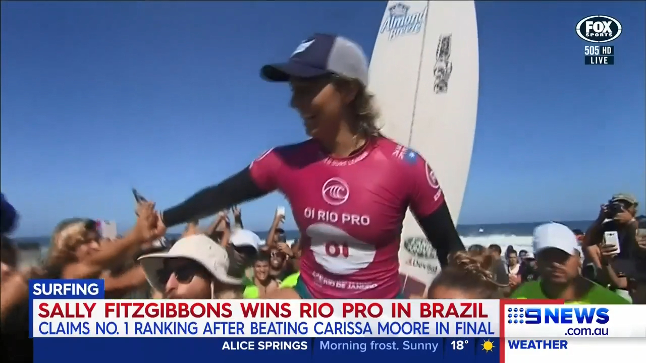 Fitzgibbons wins Rio Pro to become world no 1