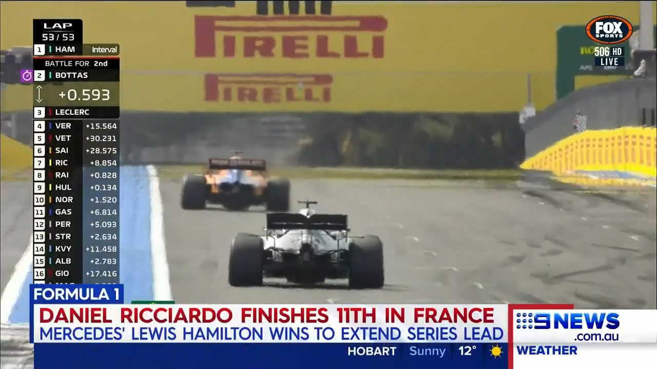 Renault driver Daniel Ricciardo copped a penalty at the F1 French Grand Prix