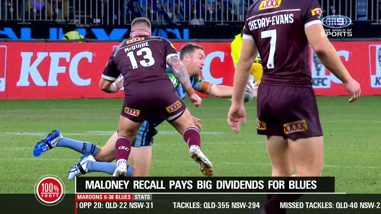 Blues Origin great Paul Gallen discusses Josh McGuire's late hit on NSW playmaker James Maloney