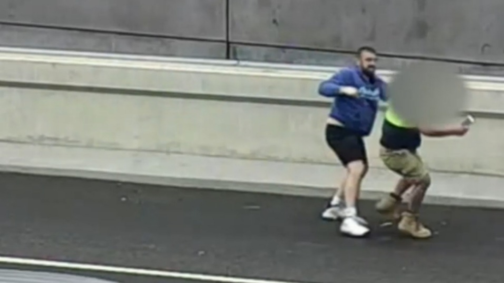 Ex-cop brawls in the middle of Victorian Freeway