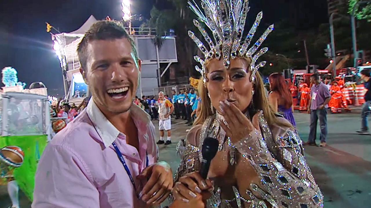 Jason immerses himself in the Rio Carnival experience