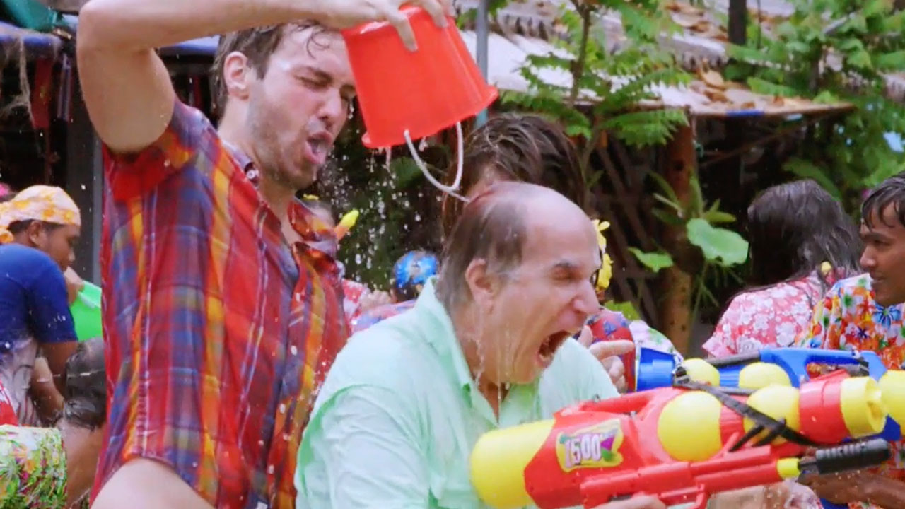 Cleansing their sins away in the Songkran Water Festival