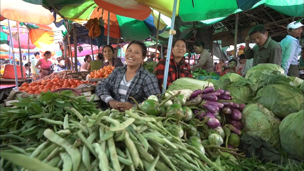 Myinmu's markets