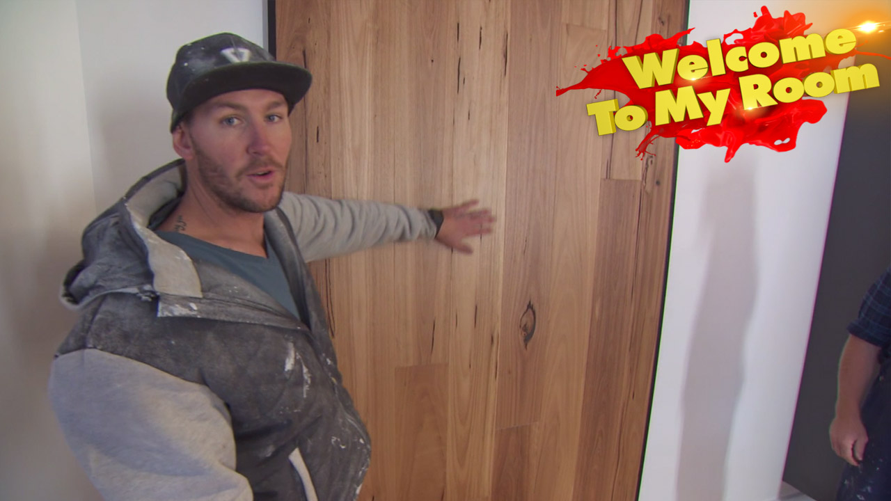 Sticks explains his timber feature wall