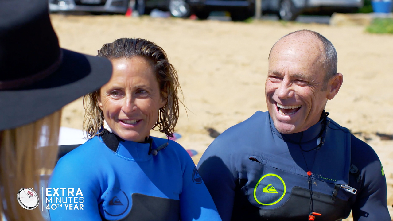 Surfing legend Tom Carroll helps Sam Bloom surf again