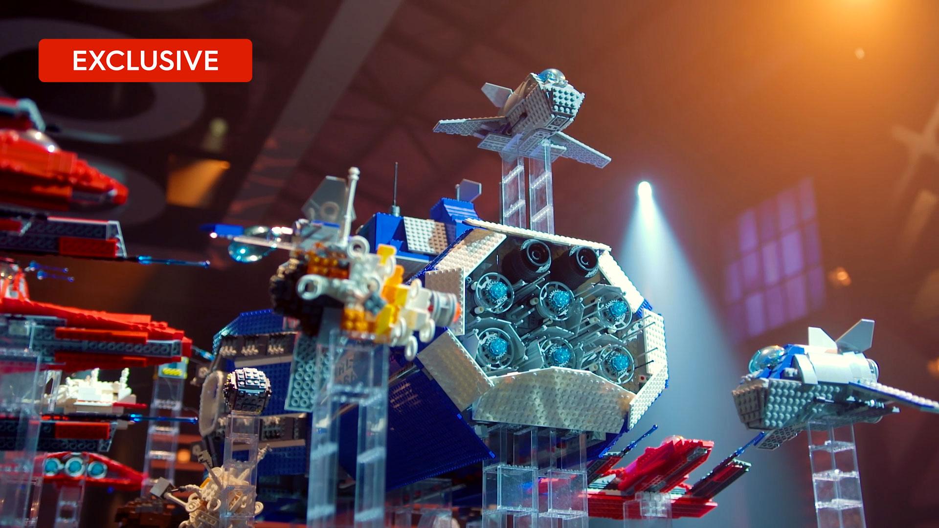 LEGO speed build: Jordan and Miller's spaceship