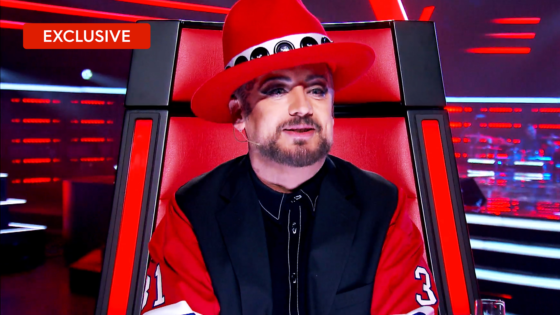 Boy George on his storm off
