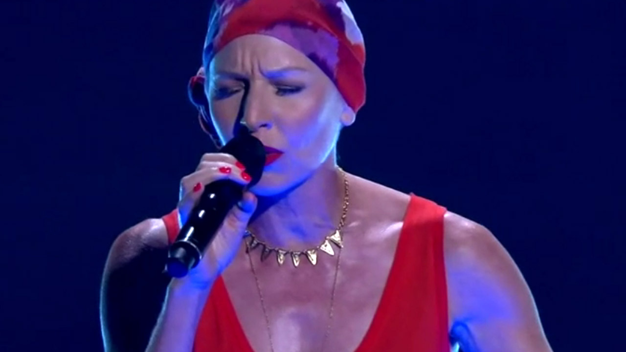 The Voice contestant performing during cancer treatment