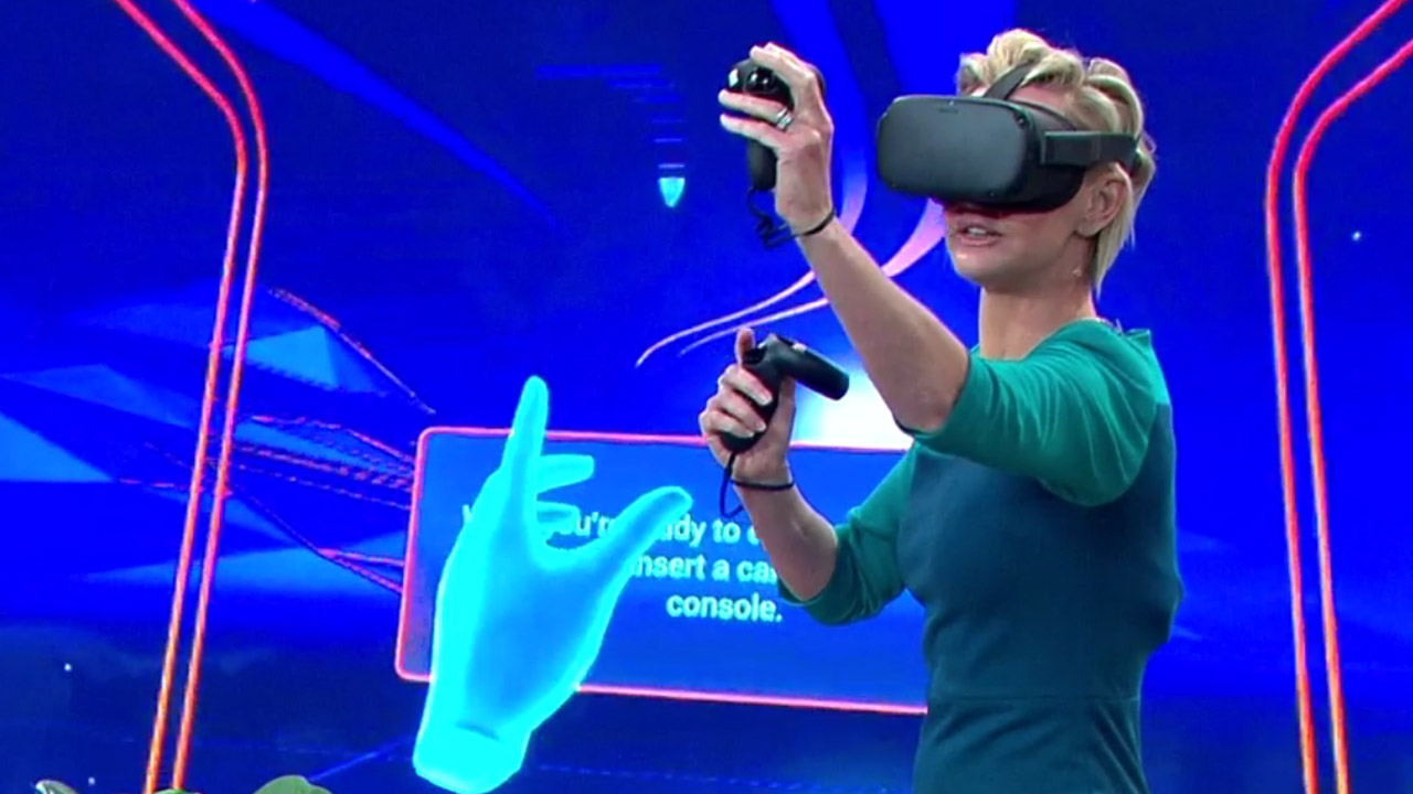 Deb goes comically deep into virtual reality