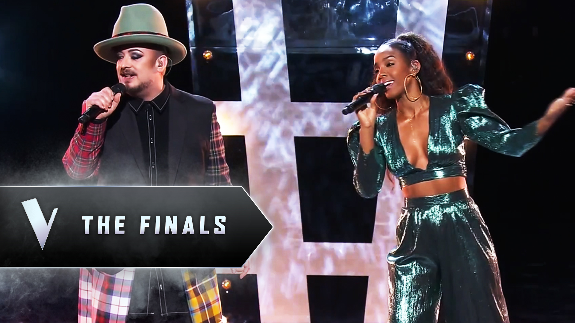 The Finals: Kelly Rowland and Boy George's 'Runaway Train'
