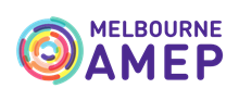 Melbourne Adult Migrant English Program (AMEP) logo