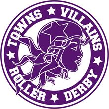 Towns Villains Roller Derby League logo