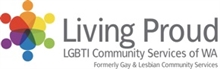 Living Proud LGBTI Community Services of WA logo