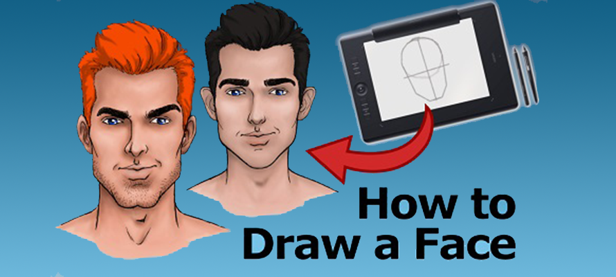 How To Draw a Face of a Superhero-like Character