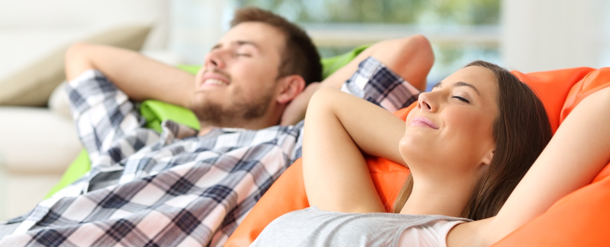 Couple relaxing on the couch