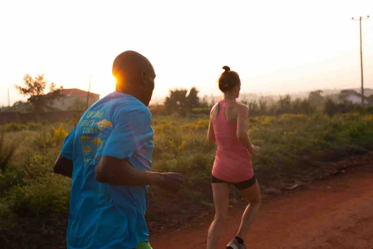 Love Mercy founders running in Uganda