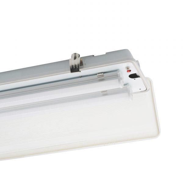 LED Weatherproof Emergency Batten Light Open