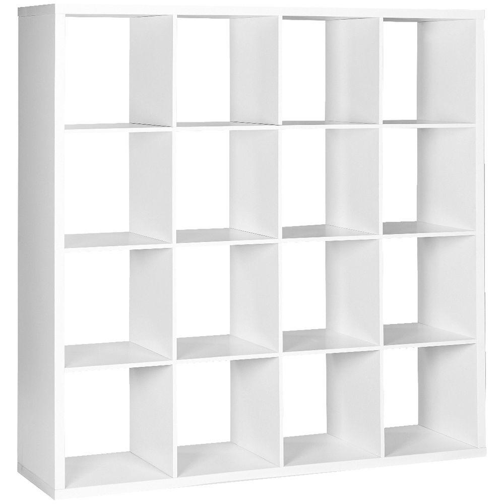 Horsens 16 Cube Bookcase White
