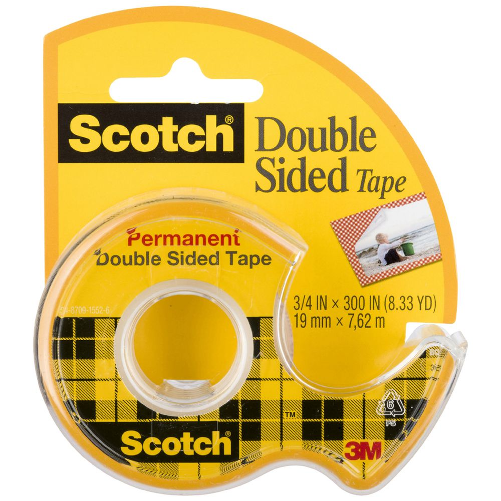 Scotch Permanent Double Sided Tape 19mm X 7 6m Officeworks
