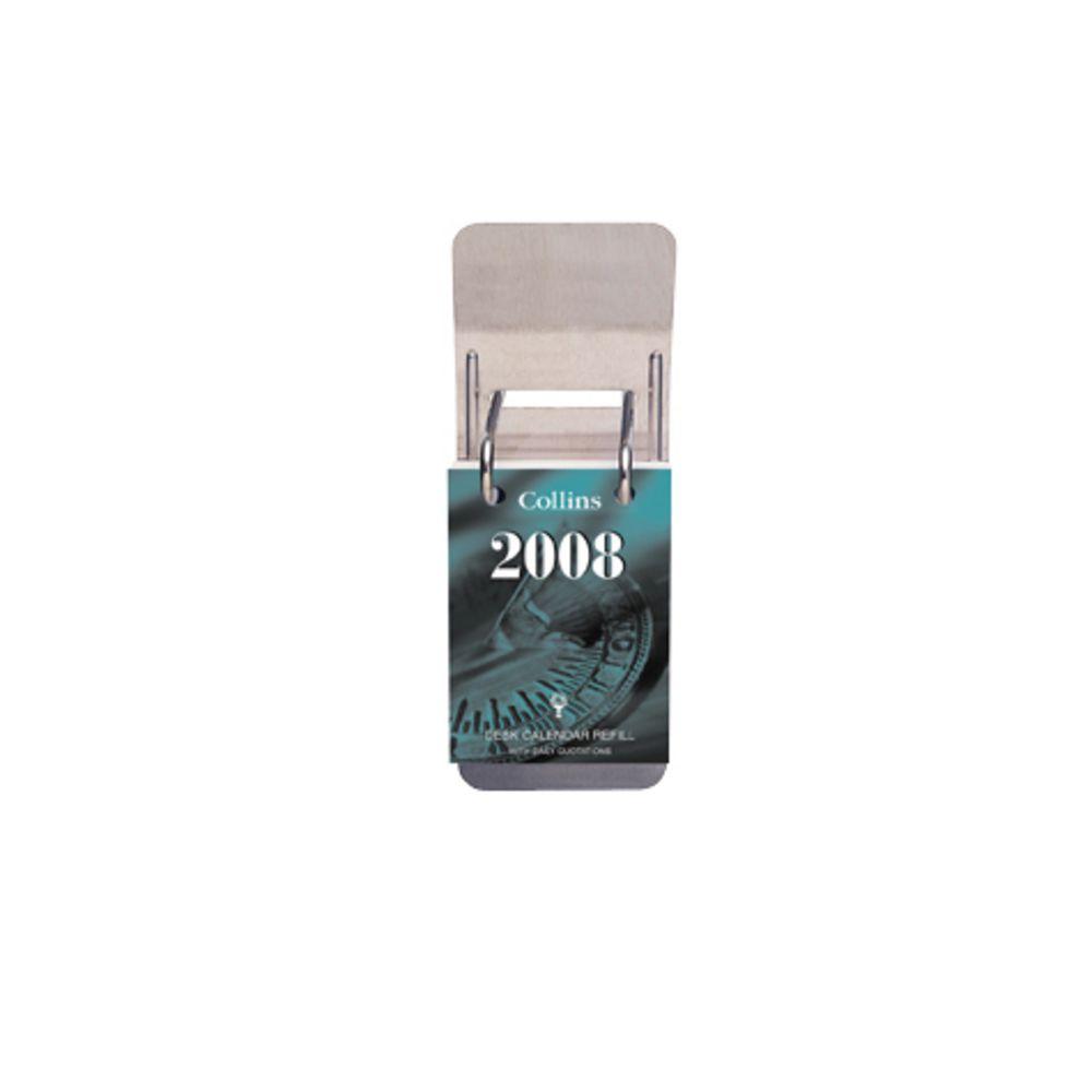 ac6f36148ca7 Collins Debden Metal Desk Calendar Stand Top Hole Silver