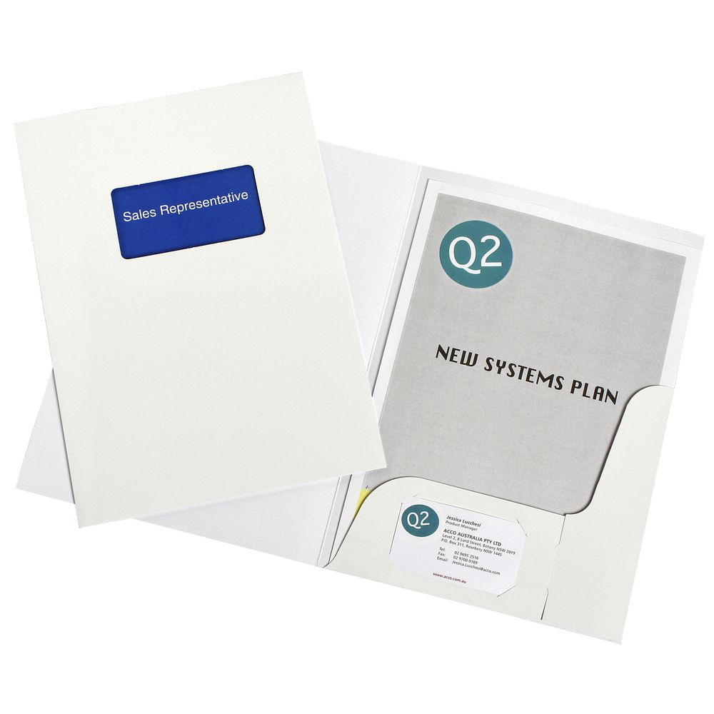Amazing Pocket Folders With Business Card Holder Gallery ...