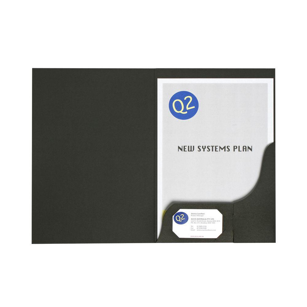 report covers officeworks marbig a4 presentation folder matte black 20 pack