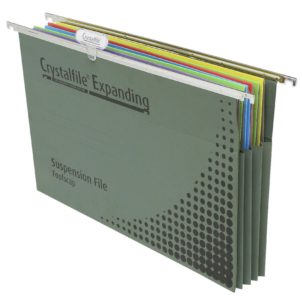Crystalfile Foolscap Expanding Suspension Files 10 Pack