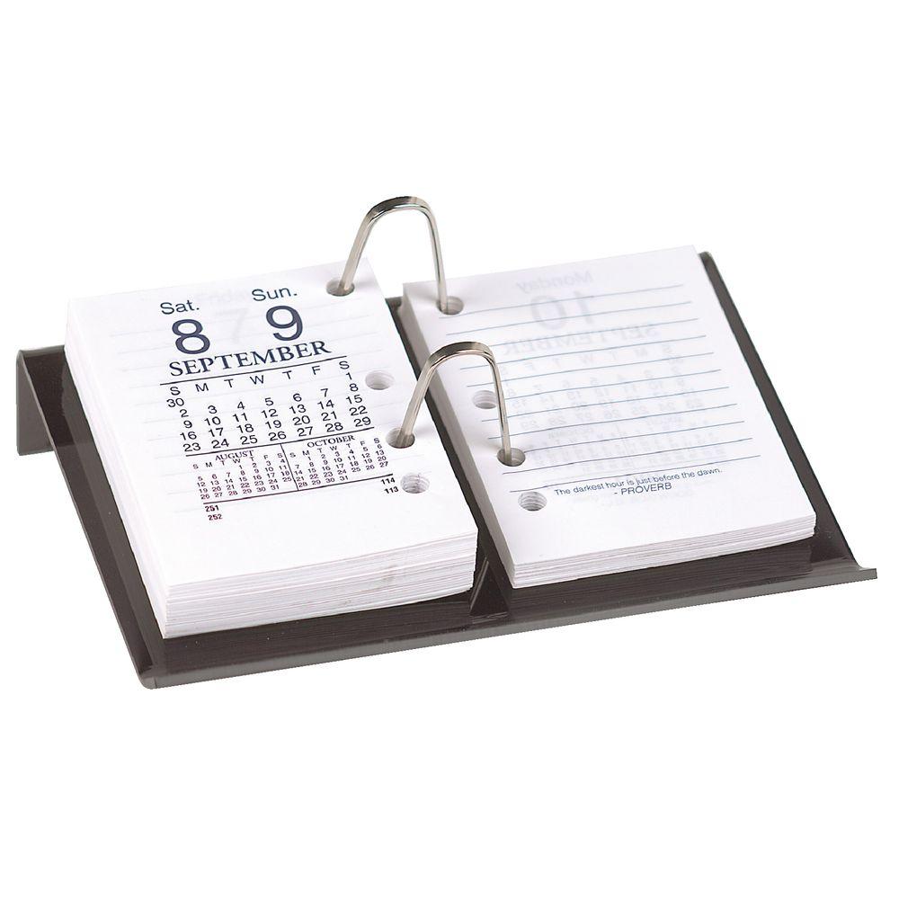 b70f1cf3b85f Marbig Acrylic Desk Calendar Stand Side Hole Smoke