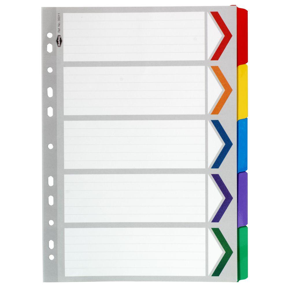 10 tab divider template
