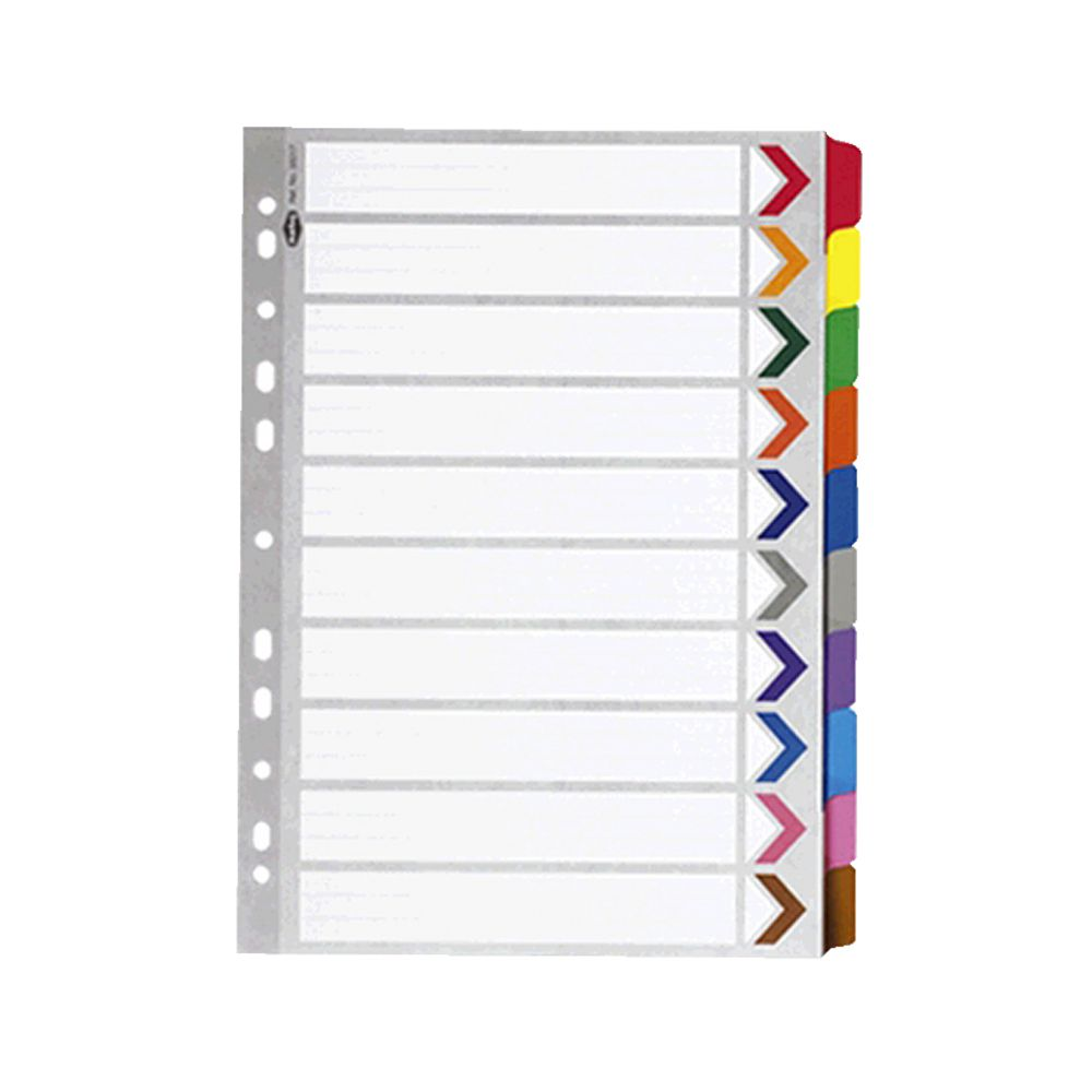 Marbig reinforced a4 10 tab divider officeworks for 10 tab divider template