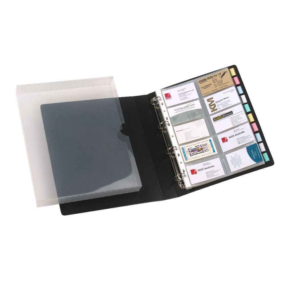marbig business card book case black  officeworks