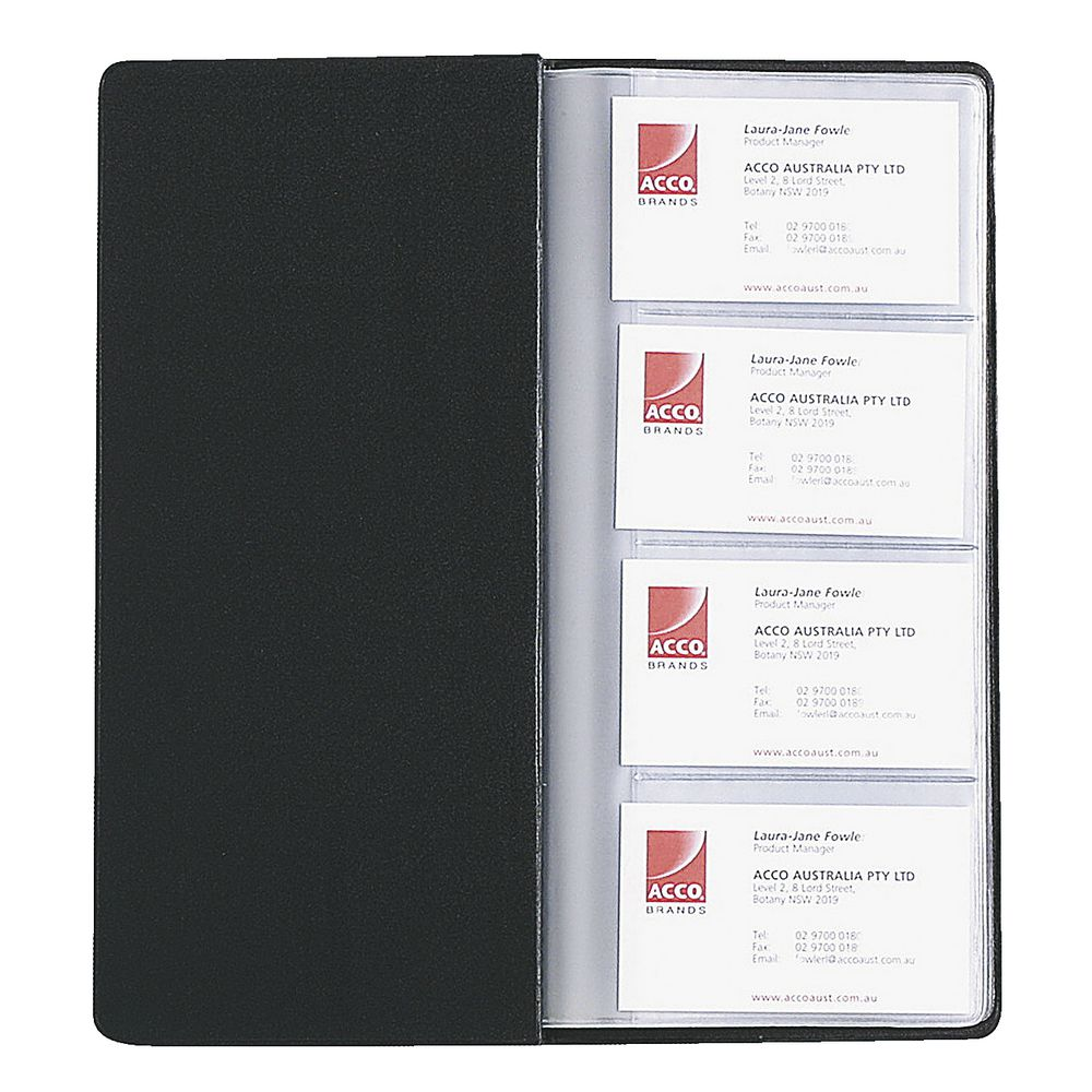 marbig business card holder black  officeworks