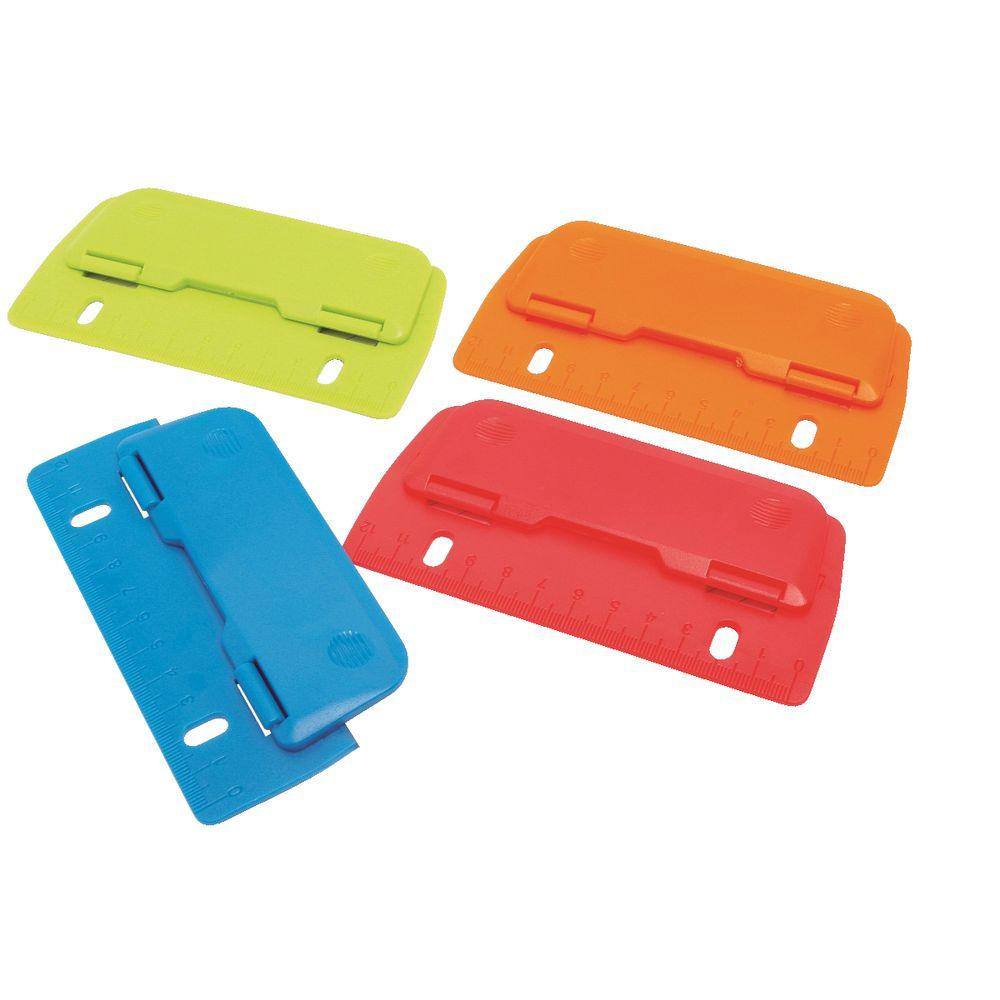 ColourHide Bindermate 2 Round Hole Punch Maker Paper Puncher for File Binder BLK