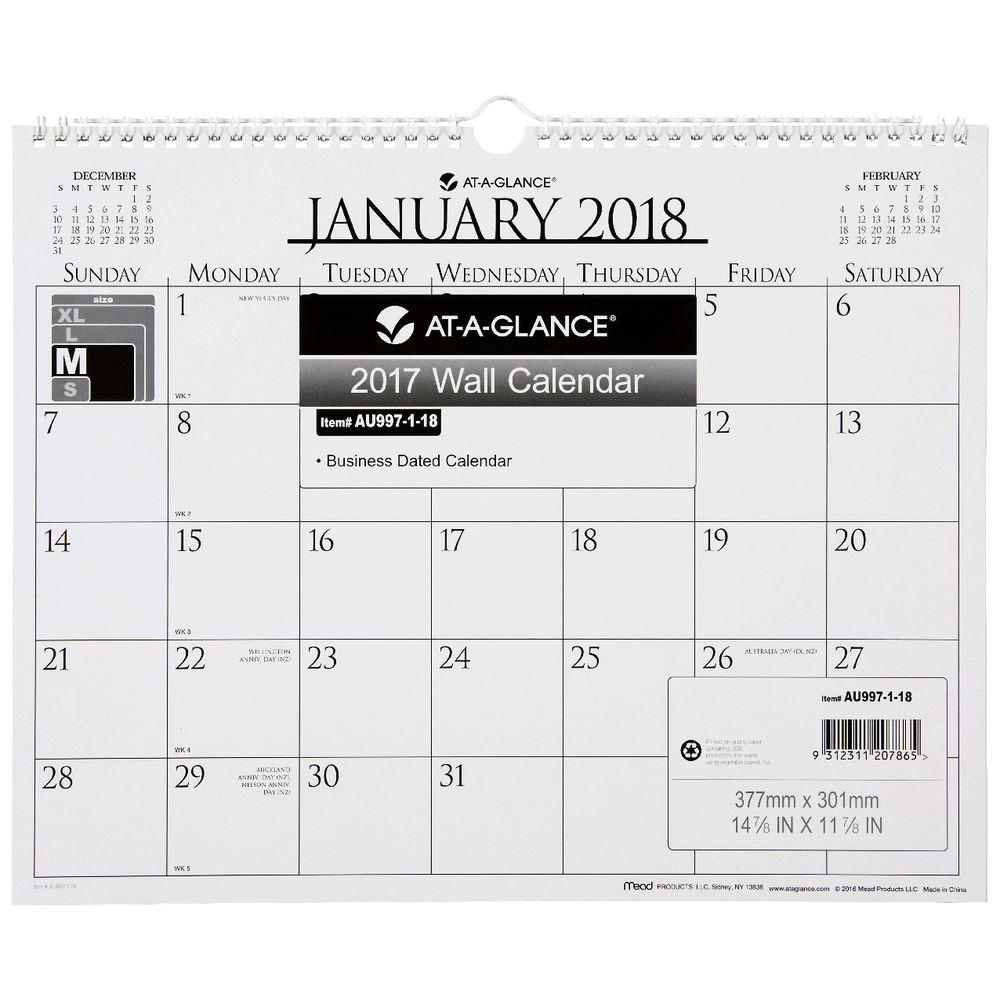 Year Calendar Officeworks : At a glance business monthly board calendar officeworks