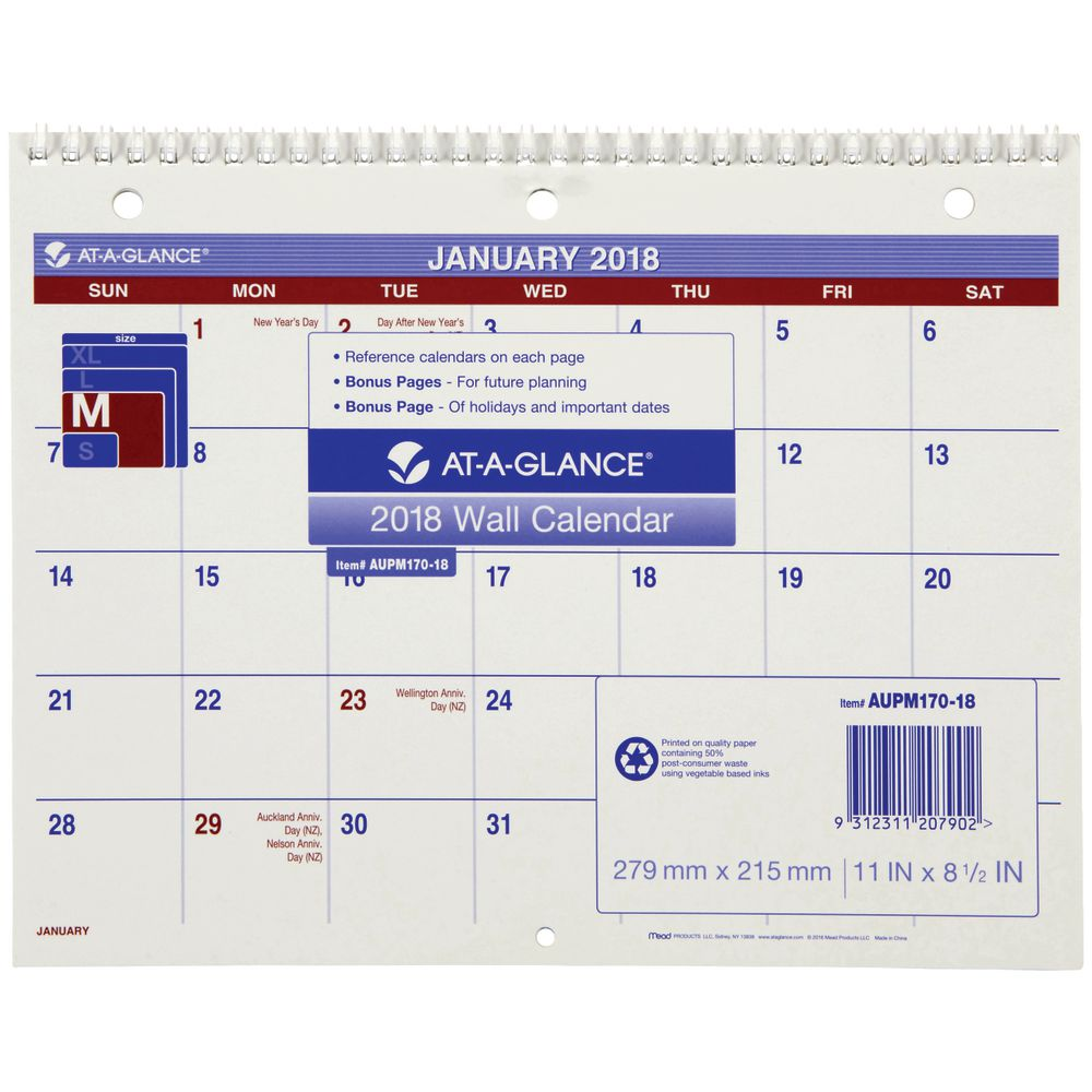 at a glance calenders