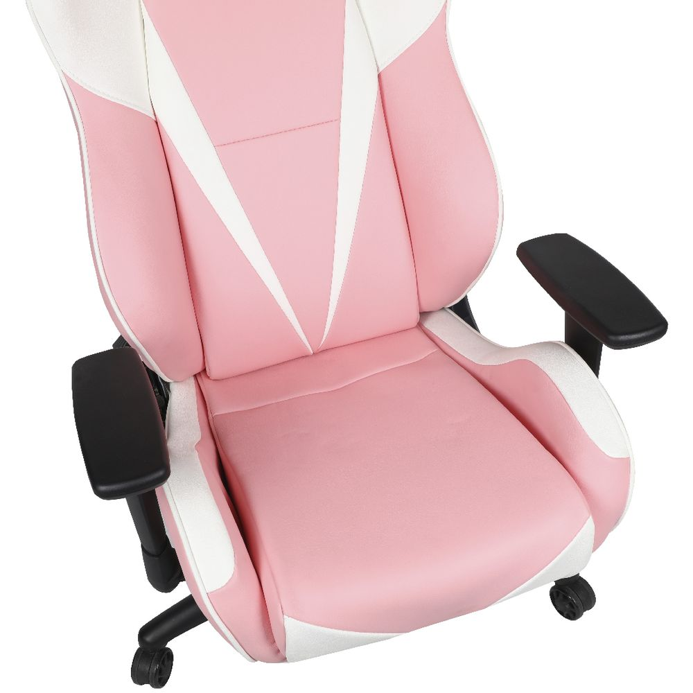 Anda Seat Gaming Chair Pink and White AD7