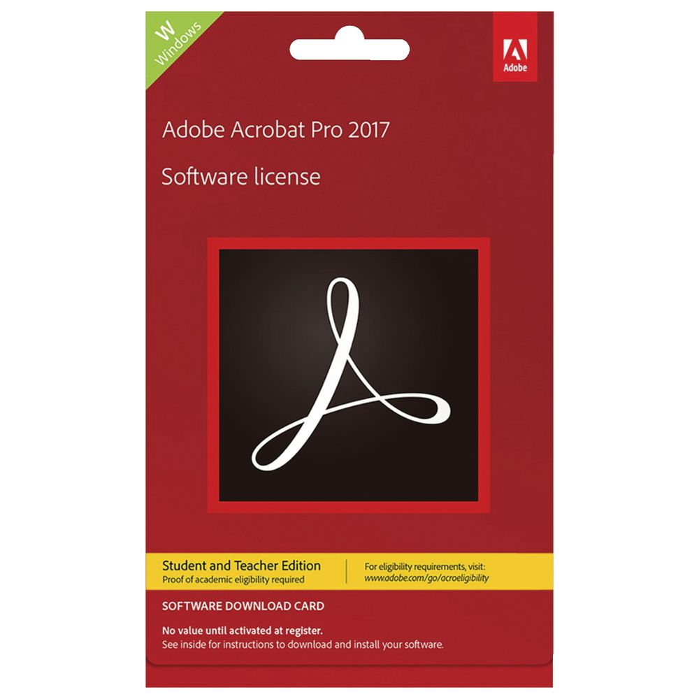 Buy now adobe acrobat standard dc student and teacher edition
