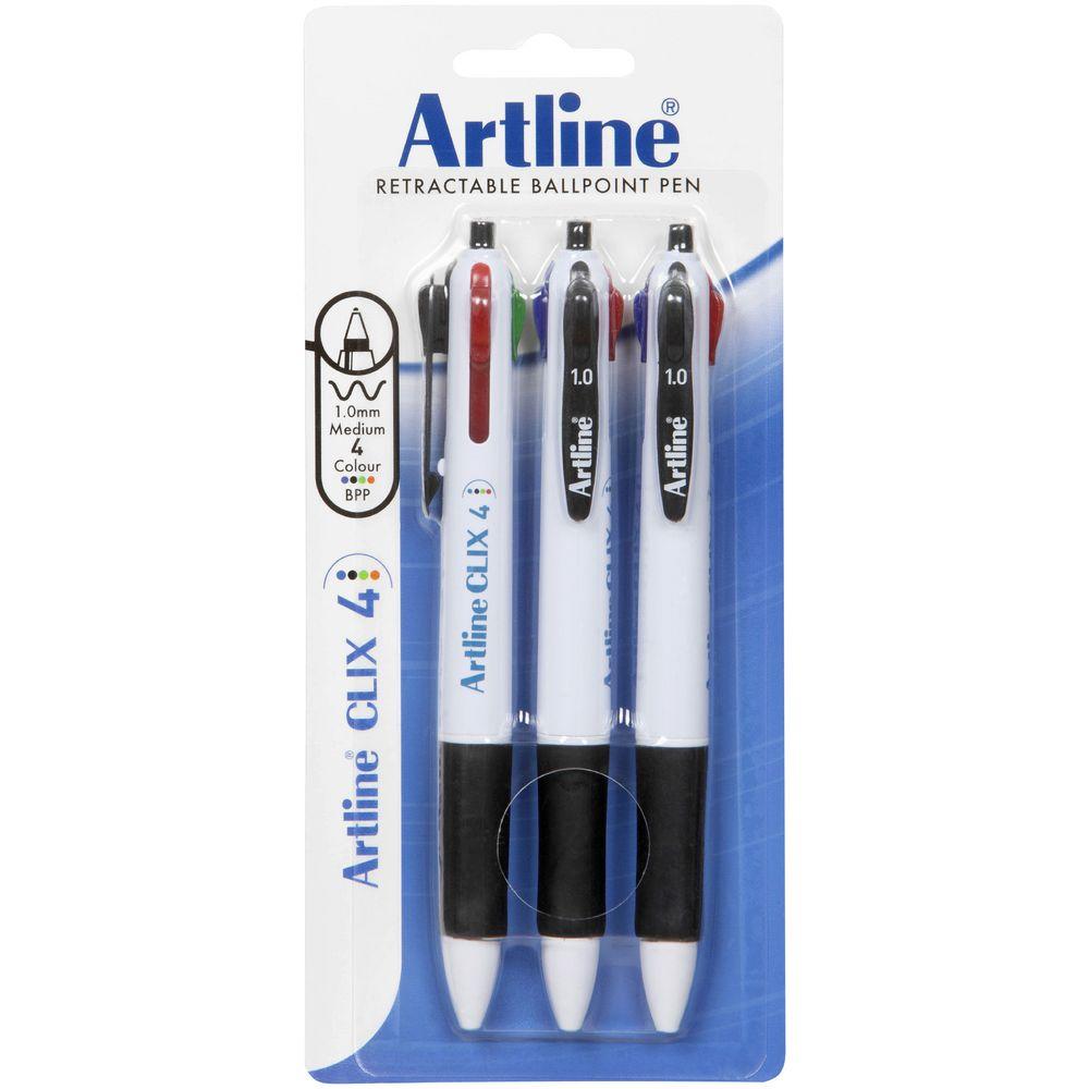 Artline Clix 4 Colour Retractable Ballpoint Pen