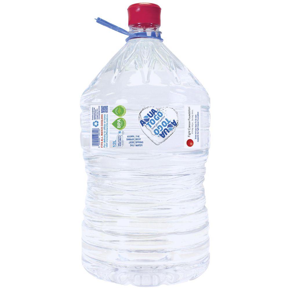 Aqua To Go 12l Spring Water Cooler Bottle Officeworks