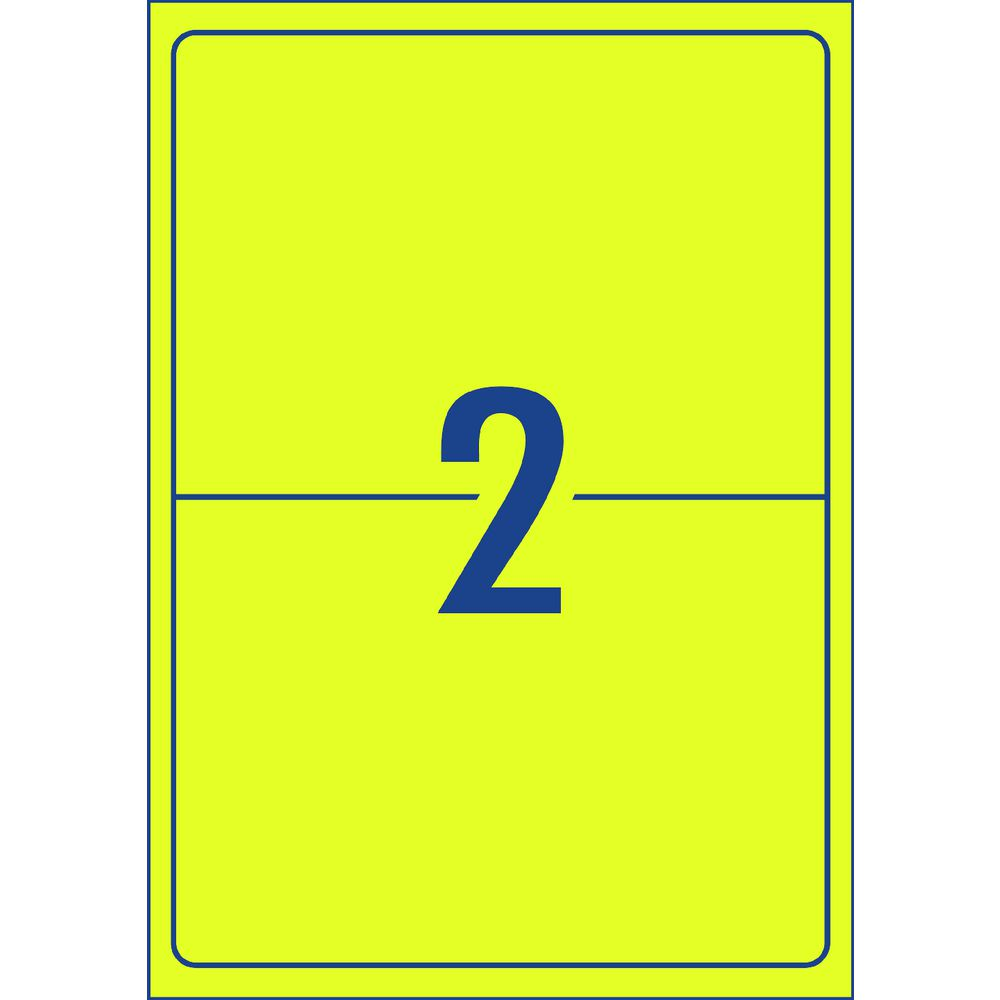 Avery Signalling Labels Fluro Yellow 25 Sheets 14 Per Page | Officeworks