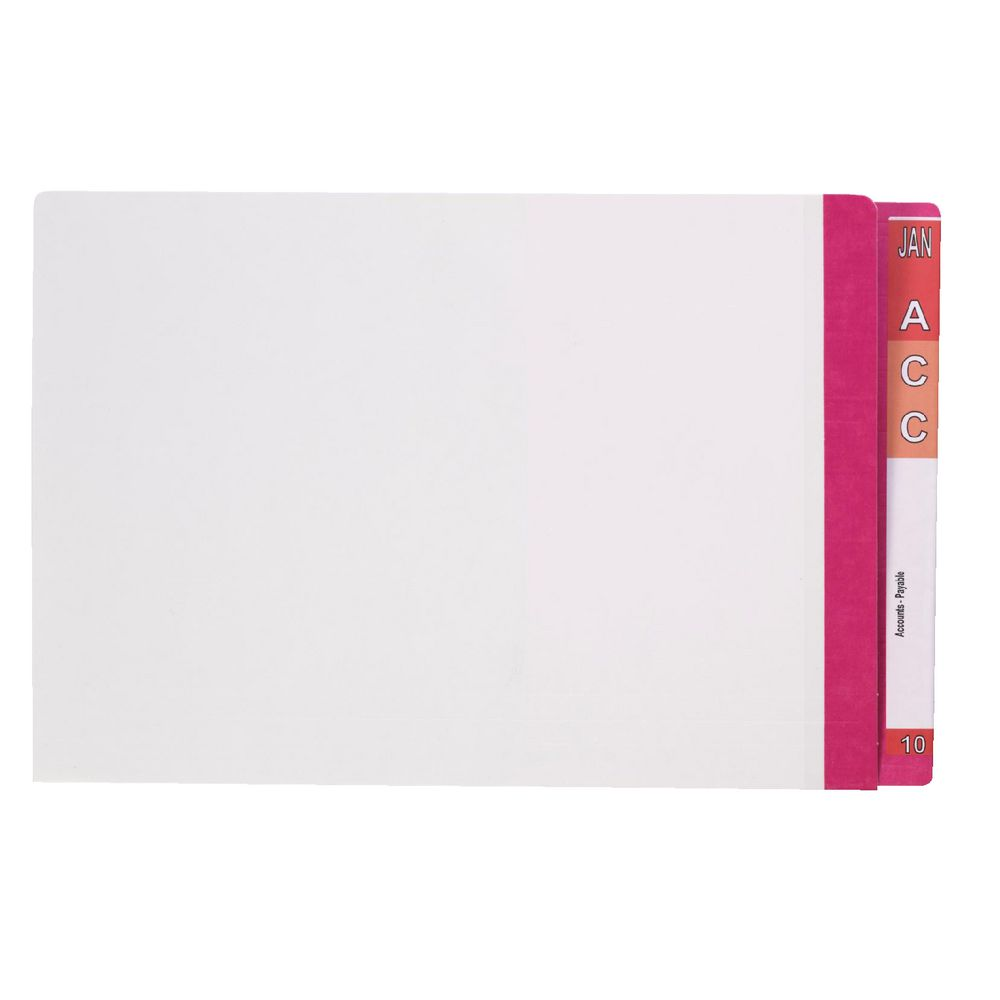 Perfect Chords And Lyrics Pink: Avery Foolscap Lateral File With Tabs Pink 100 Pack