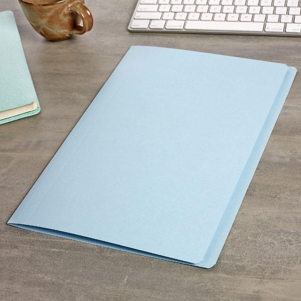 Avery Foolscap Manila Folder Light Blue 100 Pack